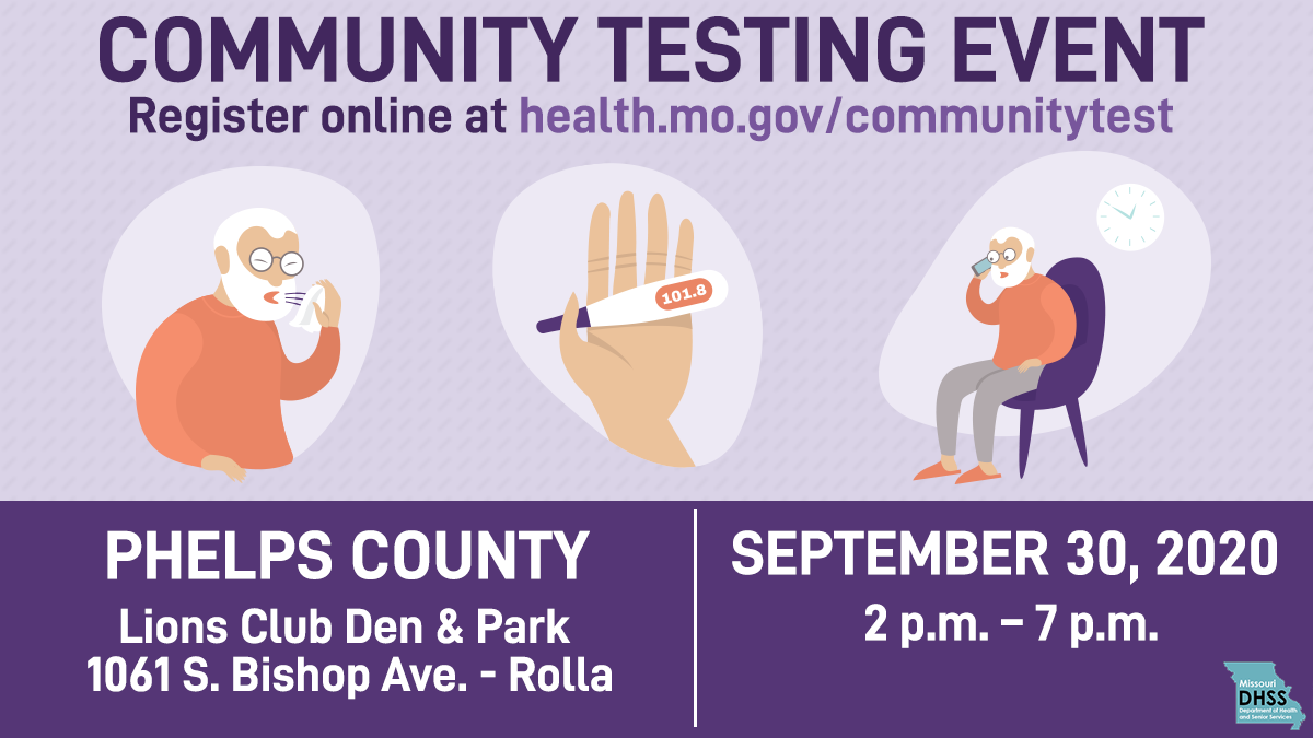 Mo DHSS Phelps County Testing Sept 30