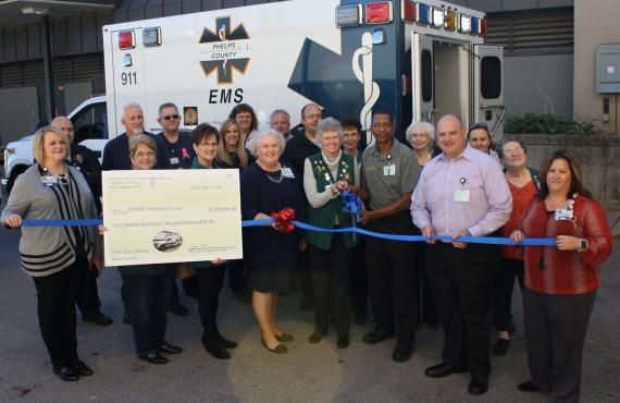 Phelps Health leaders hold ribbon cutting for new ambulance