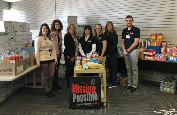 Mission Possible food drive