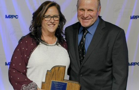 Cindy Butler, administrative director of patient care services at Phelps Health, receives award