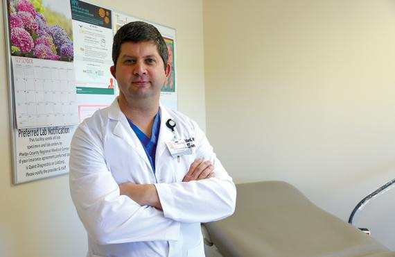 Dr. Nathan Ratchford, is the chief medical officer of Phelps Health Hospital and a gynecologist with Phelps Health Medical Group.